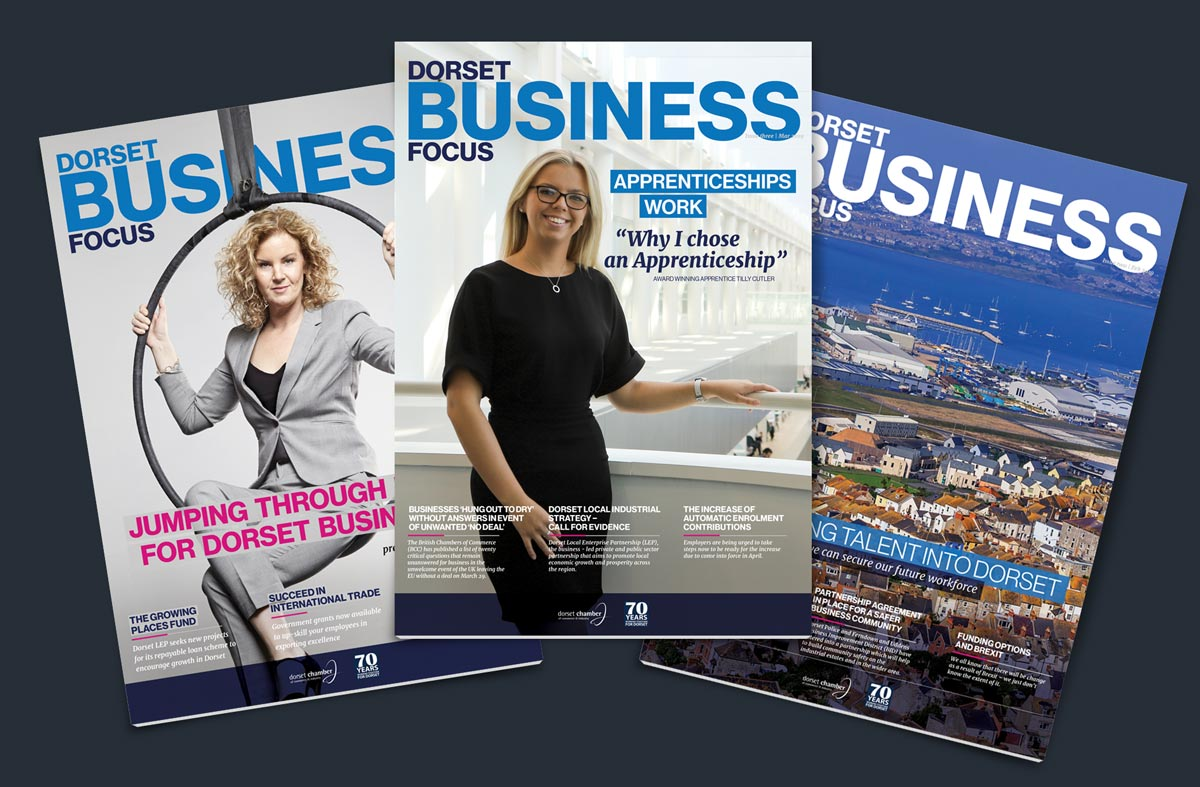 Dorset Business Focus 2019 covers